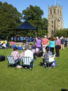 Bedale Brass Band opened the town's new Bandstand in Summer 2015